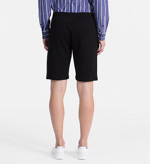 CALVINKLEIN Cotton Terry Sweatshorts - PERFECT BLACK - CALVIN KLEIN CLOTHES - detail image 1