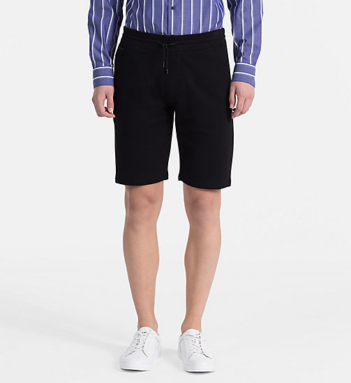 CALVINKLEIN Cotton Terry Sweatshorts - PERFECT BLACK - CALVIN KLEIN NEW IN - main image