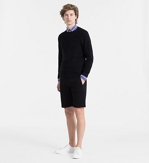 CALVINKLEIN Textured Check Jumper - PERFECT BLACK - CALVIN KLEIN CLOTHES - detail image 1
