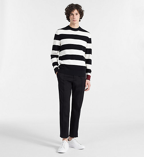 CALVINKLEIN Block Stripe Jumper - PERFECT BLACK - CALVIN KLEIN BACK IN BUSINESS - detail image 1
