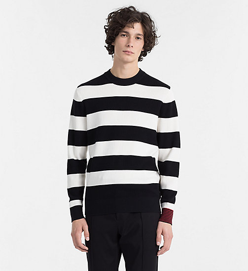 CALVINKLEIN Block Stripe Jumper - PERFECT BLACK - CALVIN KLEIN BACK IN BUSINESS - main image
