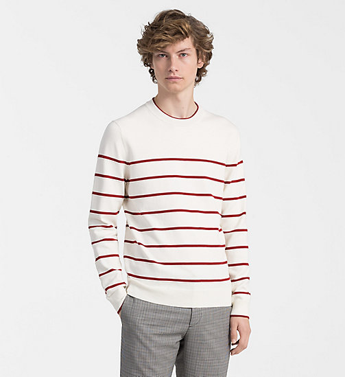 CALVINKLEIN Textured Stripe Jumper - EGRET - CALVIN KLEIN NEW IN - main image