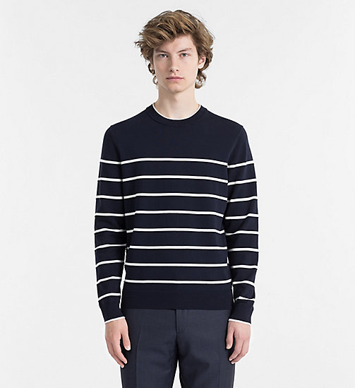 CALVINKLEIN Textured Stripe Jumper - SKY CAPTAIN - CALVIN KLEIN CLOTHES - main image