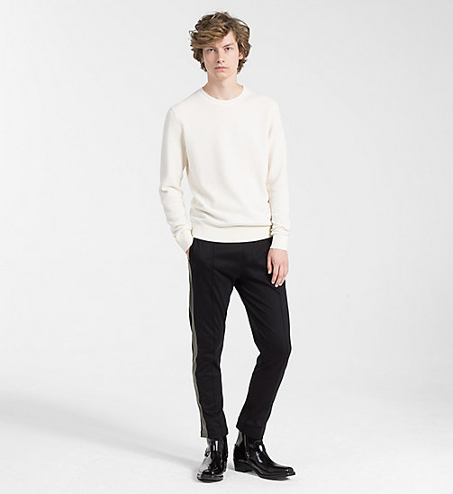 CALVINKLEIN Structured Cotton Wool Jumper - EGRET - CALVIN KLEIN CLOTHES - detail image 1