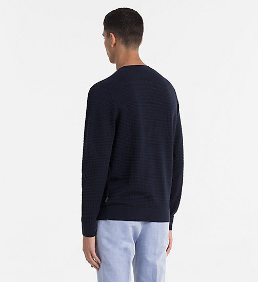 CALVINKLEIN Structured Cotton Wool Jumper - SKY CAPTAIN - CALVIN KLEIN BACK IN BUSINESS - detail image 1