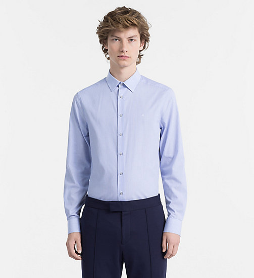 CALVINKLEIN Micro Stripe Shirt - FLAX BLUE - CALVIN KLEIN BACK IN BUSINESS - main image