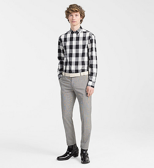 CALVINKLEIN Fitted Block Check Shirt - PERFECT BLACK - CALVIN KLEIN CLOTHES - detail image 1