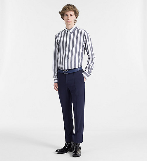 CALVINKLEIN Fitted Block Stripe Shirt - PERFECT BLACK - CALVIN KLEIN BACK IN BUSINESS - detail image 1