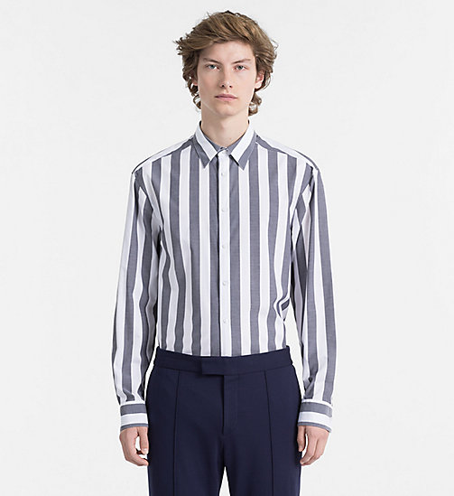 CALVINKLEIN Fitted Block Stripe Shirt - PERFECT BLACK - CALVIN KLEIN BACK IN BUSINESS - main image