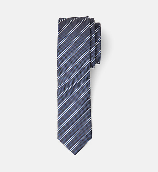 CALVINKLEIN Slim Silk Tie - SKY CAPTAIN - CALVIN KLEIN NEW IN - main image