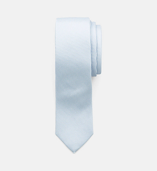 CALVINKLEIN Slim Silk Tie - SILVER LAKE BLUE - CALVIN KLEIN BACK IN BUSINESS - main image