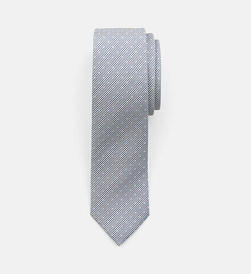 CALVINKLEIN Slim Silk Tie - MEDIUM GREY - CALVIN KLEIN BACK IN BUSINESS - main image