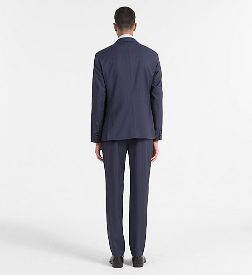 CALVINKLEIN Virgin Wool Pinstripe Suit - MEDIEVAL BLUE - CALVIN KLEIN BACK IN BUSINESS - detail image 1