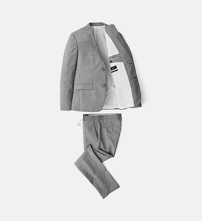 karierter anzug aus schurwolle calvin klein k10k102112039. Black Bedroom Furniture Sets. Home Design Ideas