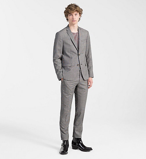 CALVINKLEIN Virgin Wool Check Suit - ALLOY - CALVIN KLEIN CLOTHES - main image