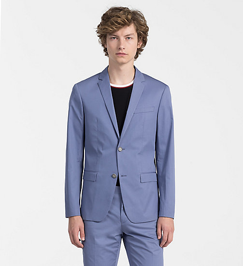 CALVINKLEIN Fitted Cotton Twill Blazer - LIGHT VIOLET - CALVIN KLEIN CLOTHES - main image