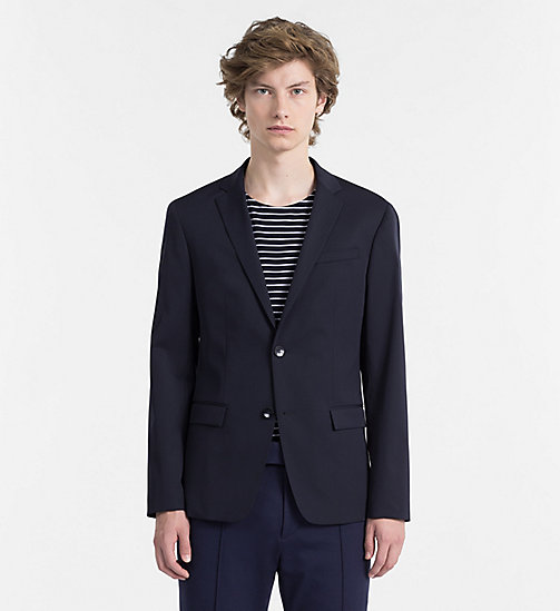 CALVINKLEIN Wool Blend Gabardine Blazer - TRUE NAVY -  CLOTHES - main image