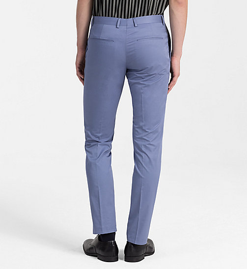 CALVINKLEIN Fitted Cotton Twill Trousers - LIGHT VIOLET -  CLOTHES - detail image 1