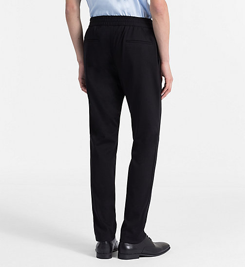 CALVINKLEIN Fitted Jersey Trousers - PERFECT BLACK -  CLOTHES - detail image 1