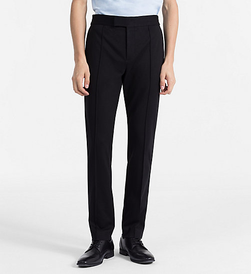 CALVINKLEIN Fitted Jersey Trousers - PERFECT BLACK - CALVIN KLEIN CLOTHES - main image