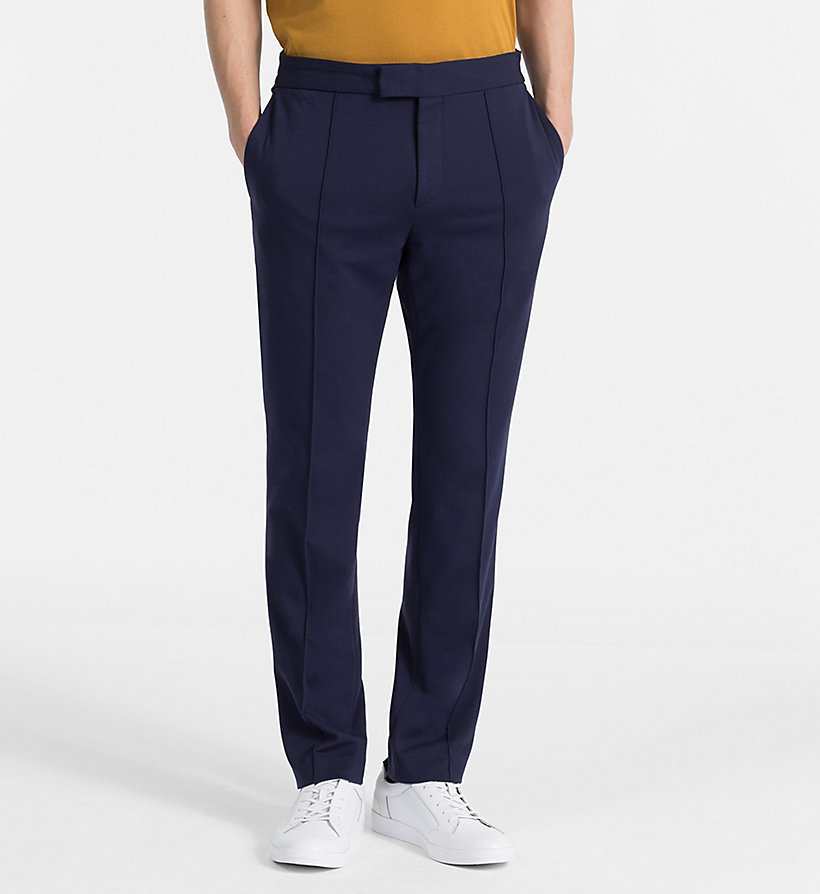 CALVINKLEIN Fitted Jersey Trousers - PERFECT BLACK - CALVIN KLEIN MEN - main image