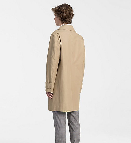 CALVINKLEIN Techno Cotton Twill Coat - PLAZA TAUPE - CALVIN KLEIN CLOTHES - detail image 1