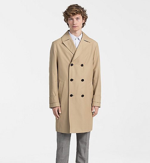 CALVINKLEIN Techno Cotton Twill Coat - PLAZA TAUPE - CALVIN KLEIN BACK IN BUSINESS - main image