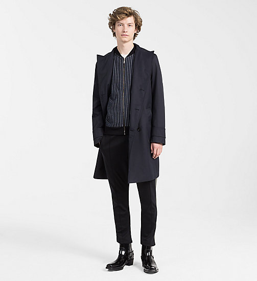 CALVINKLEIN Techno Cotton Twill Coat - TRUE NAVY - CALVIN KLEIN CLOTHES - detail image 1