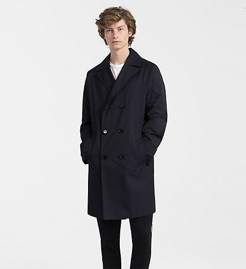 CALVINKLEIN Techno Cotton Twill Coat - TRUE NAVY - CALVIN KLEIN CLOTHES - main image