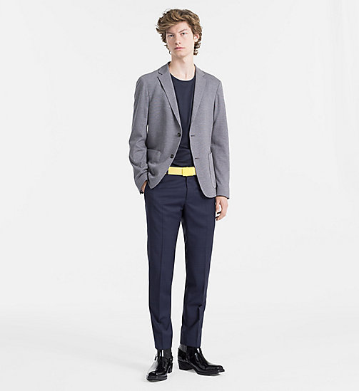 CALVINKLEIN Fitted Two-Tone Piqué Blazer - ALLOY - CALVIN KLEIN CLOTHES - detail image 1