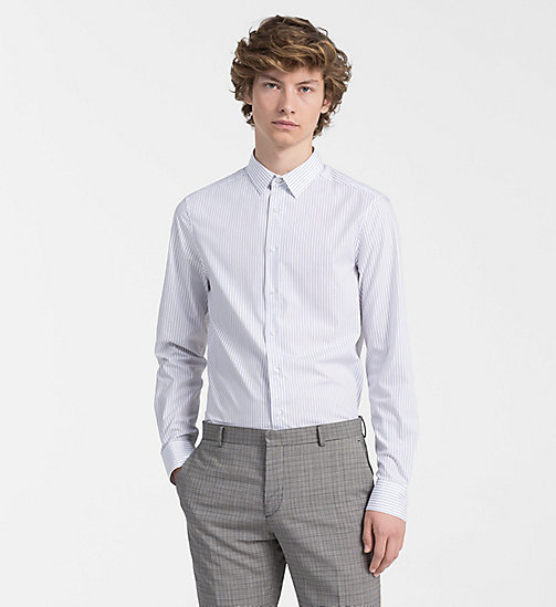 CALVINKLEIN Slim Pinstripe Shirt - SODALITE BLUE - CALVIN KLEIN BACK IN BUSINESS - main image