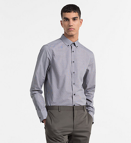 CALVINKLEIN Dobby-Hemd in Gingham-Karomuster - PERFECT BLACK -  CLOTHES - main image
