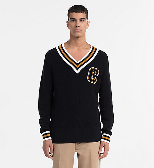 CALVINKLEIN Varsity Jumper - PERFECT BLACK - CALVIN KLEIN CLOTHES - main image