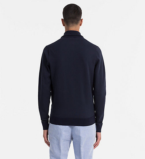 CALVINKLEIN Zip-Through Cardigan - SKY CAPTAIN - CALVIN KLEIN CLOTHES - detail image 1