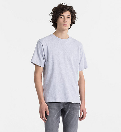 CALVINKLEIN T-Shirt aus veredelter Baumwolle - LIGHT GREY HEATHER - CALVIN KLEIN KLEIDUNG - main image