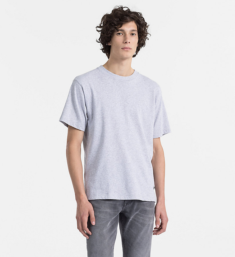CALVINKLEIN Refined Cotton T-shirt - OLYMPIAN BLUE - CALVIN KLEIN MEN - main image