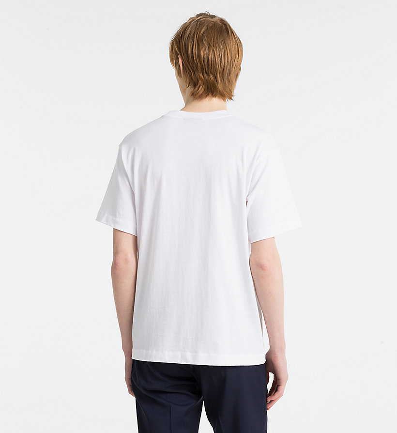 CALVINKLEIN Refined Cotton T-shirt - LIGHT GREY HEATHER - CALVIN KLEIN MEN - detail image 2