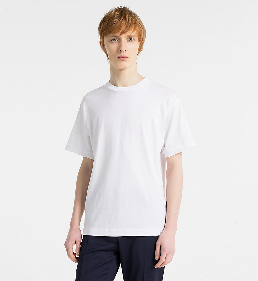 CALVINKLEIN Refined Cotton T-shirt - LIGHT GREY HEATHER - CALVIN KLEIN MEN - main image