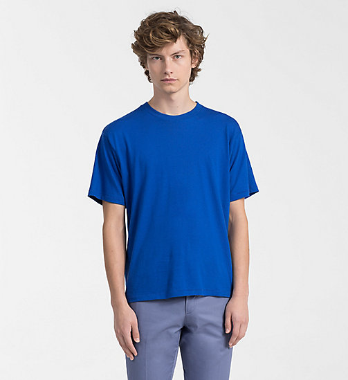 CALVINKLEIN Refined Cotton T-shirt - OLYMPIAN BLUE - CALVIN KLEIN CLOTHES - main image
