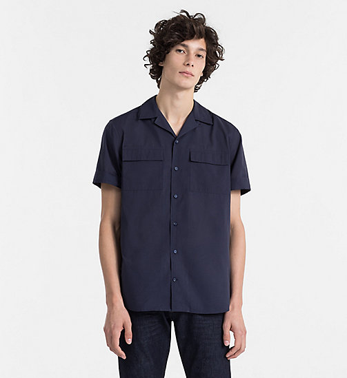 CALVINKLEIN Cotton Silk Poplin Shirt - SKY CAPTAIN - CALVIN KLEIN NEW IN - main image