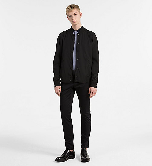 CALVINKLEIN Techno Gabardine Bomber Jacket - PERFECT BLACK - CALVIN KLEIN CLOTHES - detail image 1