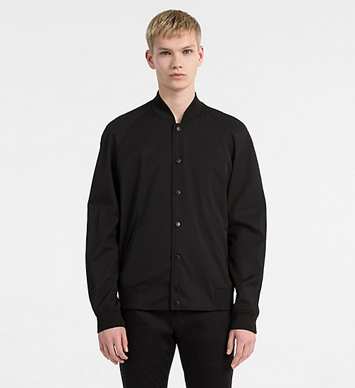 CALVINKLEIN Blouson bomber en gabardine technique - PERFECT BLACK - CALVIN KLEIN BACK IN BUSINESS - image principale