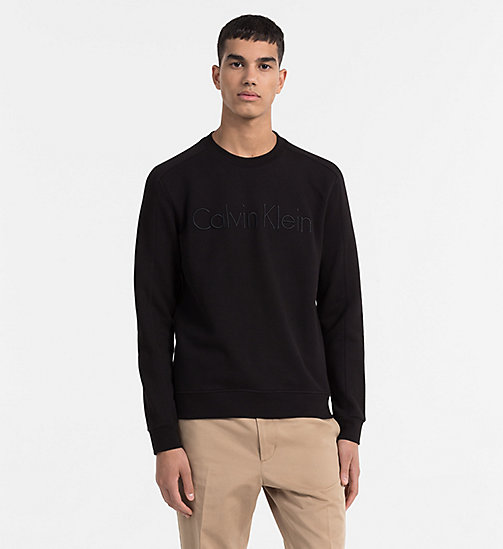 CALVINKLEIN Logo Sweatshirt - PERFECT BLACK - CALVIN KLEIN NEW IN - main image