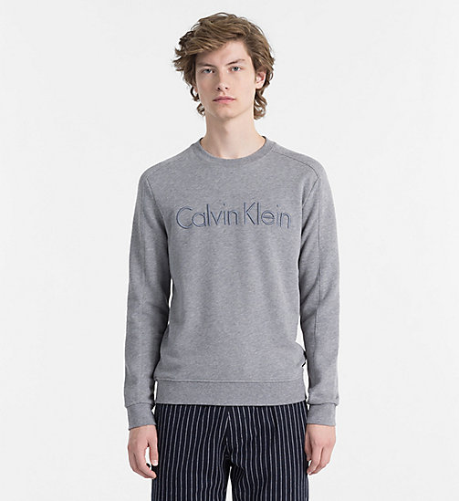 CALVINKLEIN Logo Sweatshirt - MEDIUM GREY HTR - CALVIN KLEIN CLOTHES - main image