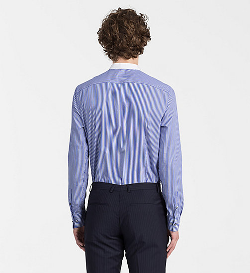 CALVINKLEIN Contrast Trim Stripe Shirt - SODALITE BLUE - CALVIN KLEIN BACK IN BUSINESS - detail image 1