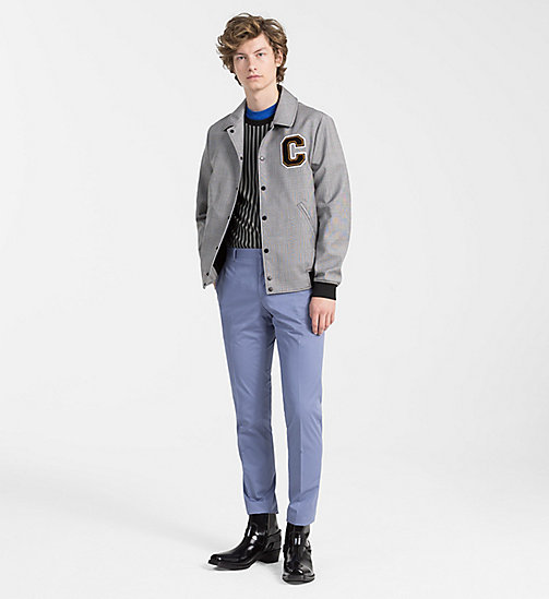 CALVINKLEIN Wool Check Varsity Jacket - ALLOY - CALVIN KLEIN NEW IN - detail image 1