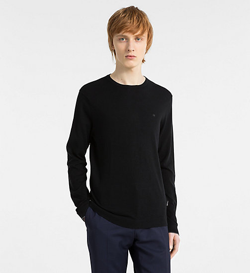 CALVINKLEIN Cotton Silk Jumper - BLACK - CALVIN KLEIN NEW IN - main image