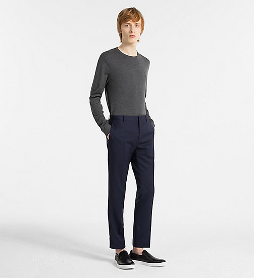 CALVINKLEIN Cotton Silk Jumper - DARK GREY MELANGE - CALVIN KLEIN CLOTHES - detail image 1