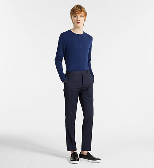 CALVINKLEIN Cotton Silk Jumper - COBALT - CALVIN KLEIN NEW IN - detail image 1