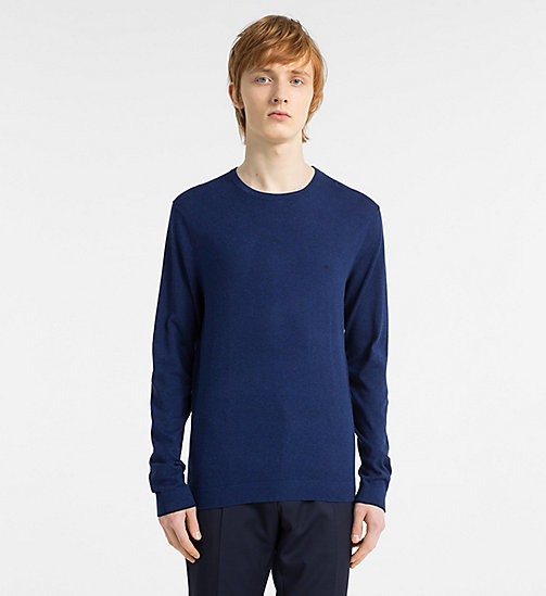 CALVINKLEIN Cotton Silk Jumper - COBALT - CALVIN KLEIN NEW IN - main image